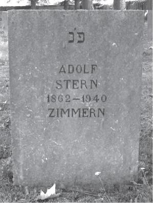 Grabstein Adolf Stern