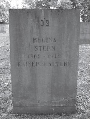 Grabstein Regina Stern