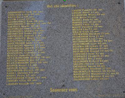 Gedenkstein am Bahnhof von Meymac